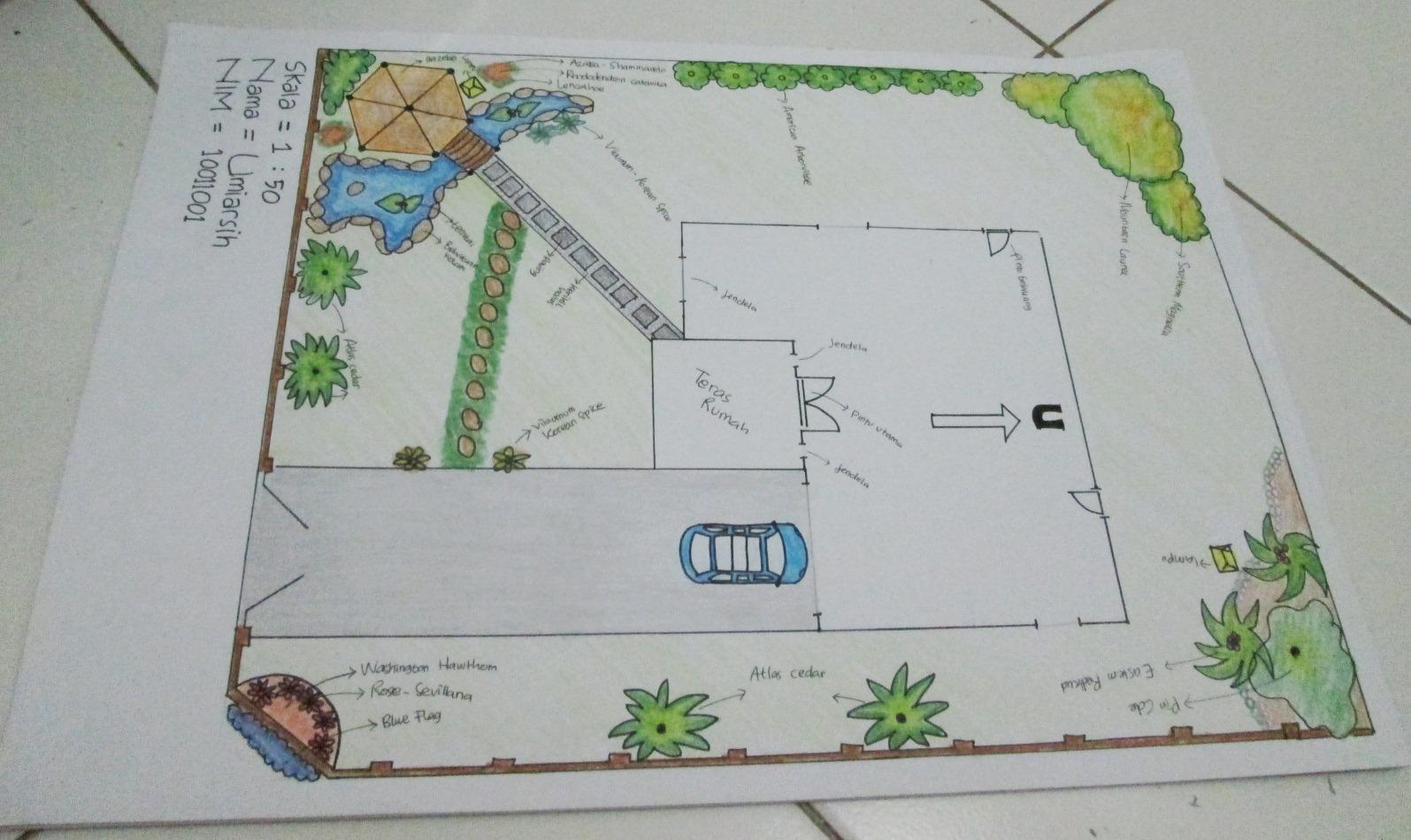 Permalink to Contoh 18+ Menarik Sketsa Desain Taman Tampak Atas